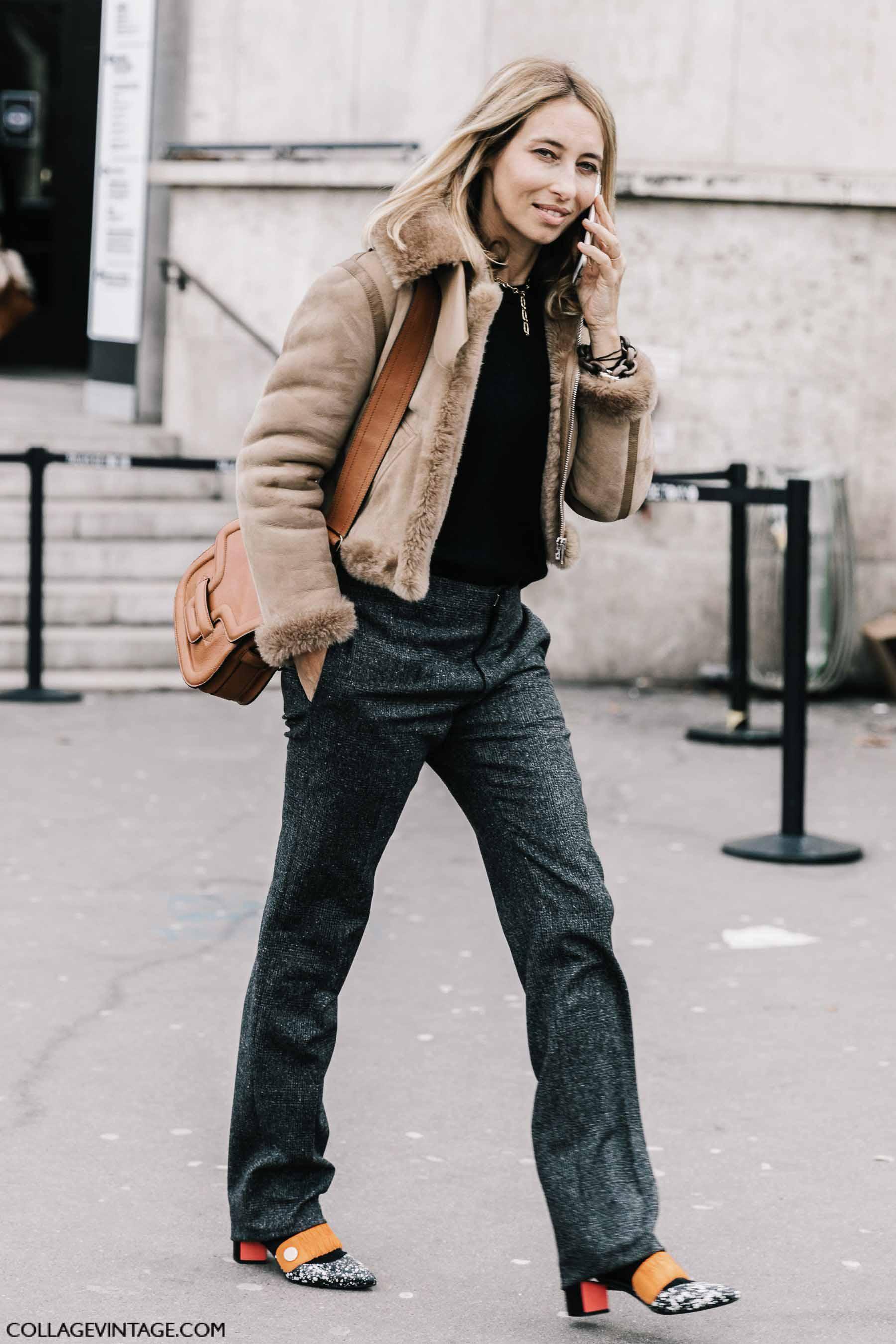 дубленка, парижский гардероб, parisian chic, parisian street style