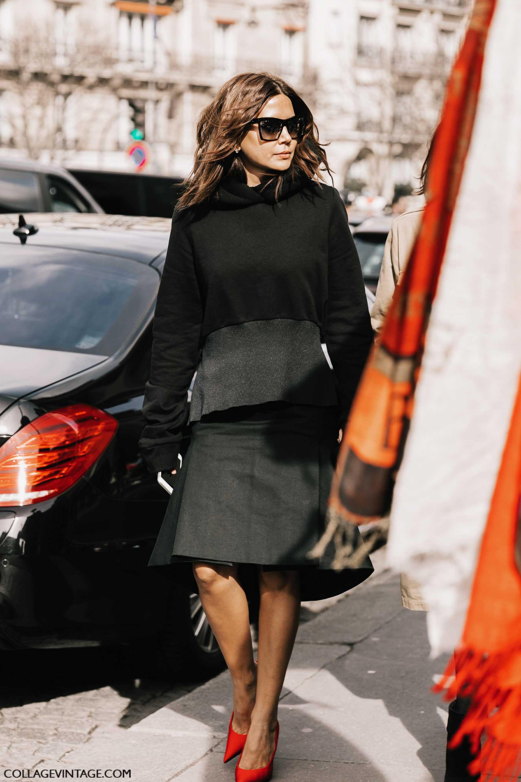 юбка-трапеция, осень-зима 2017, парижский гардероб, parisian chic, parisian street style