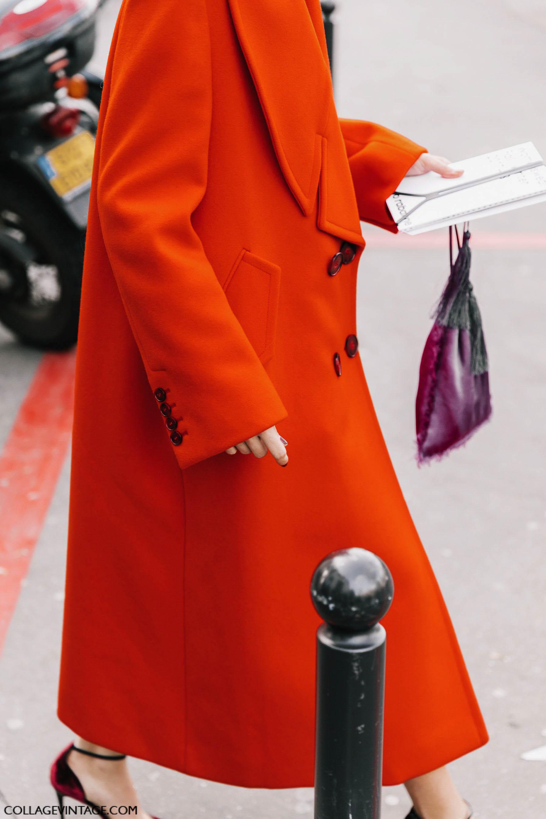 красное пальто, осень-зима 2017, парижский гардероб, parisian chic, parisian street style