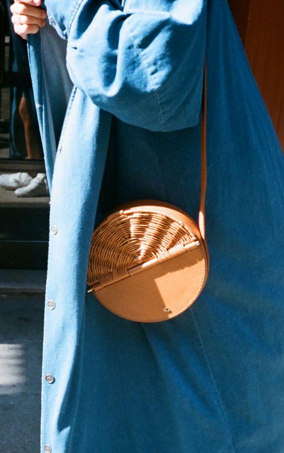 Плетеные сумки, сумка-корзинка, тренды лето 2017