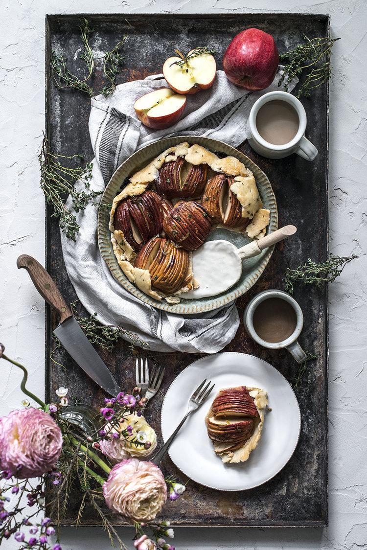 голландский яблочный пирог, простая и красивая выпечка