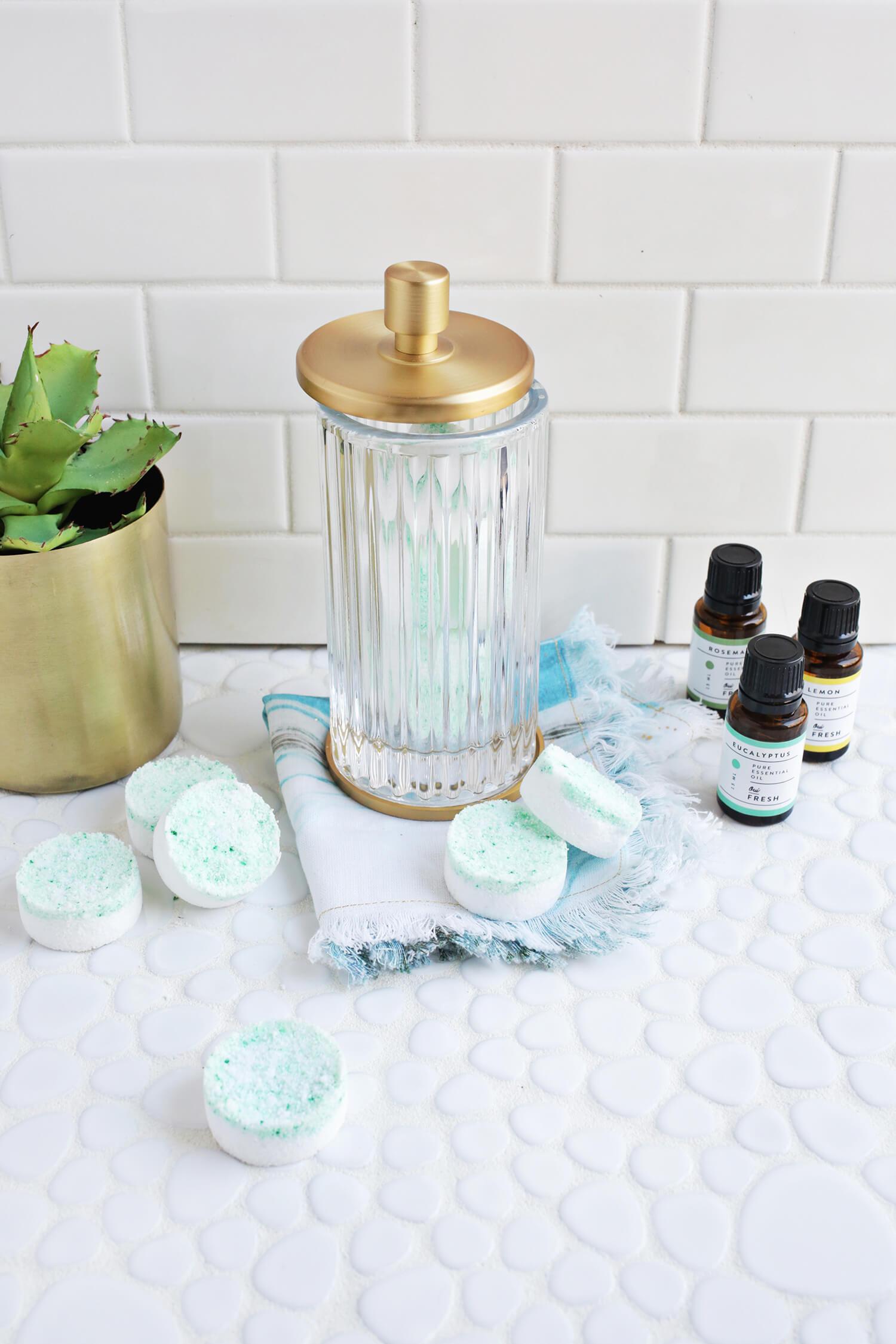 арома-таблетки для душа своим руками - красивая идея против простуды