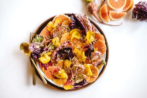 kaleandcaramel.com, зимний витаминный салат