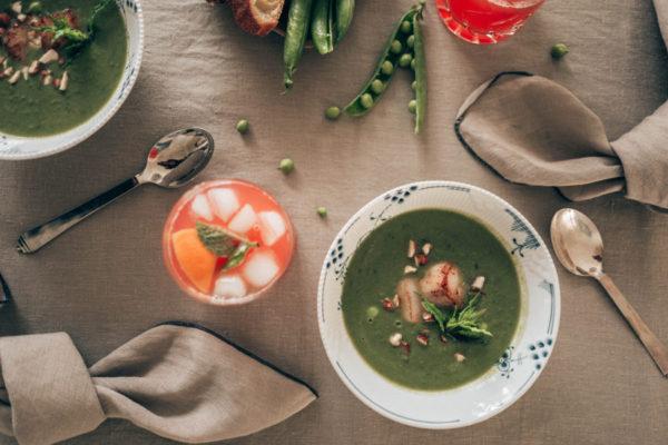 Летнее меню: датский гороховый суп с морепродуктами