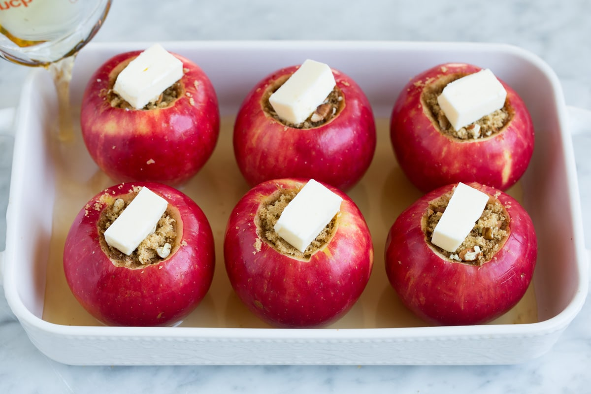 Печеные яблоки для похудения рецепты
