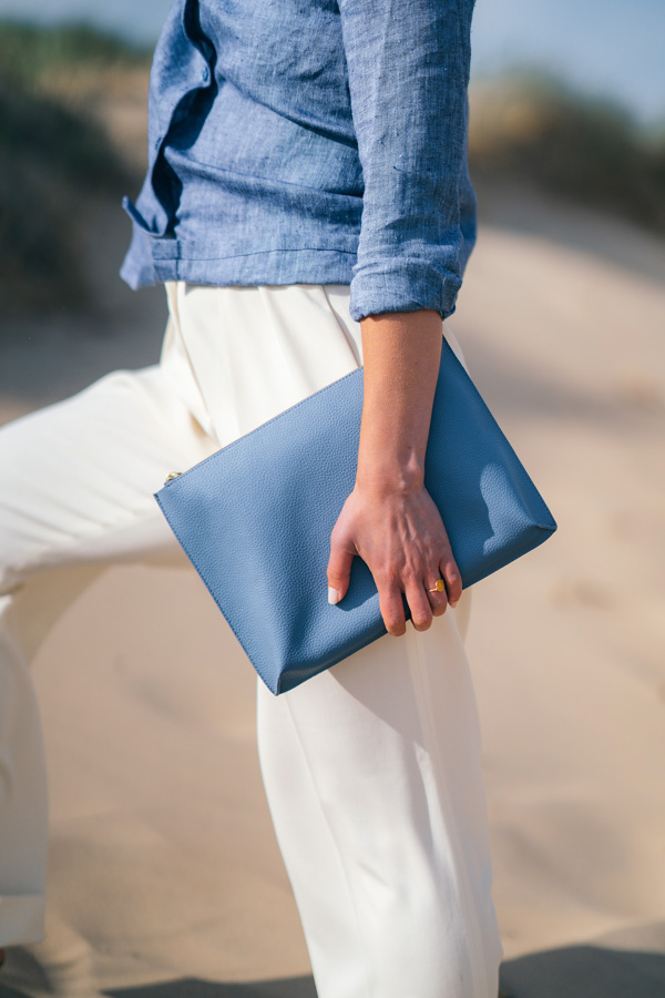 BEEN.LONDON Hoxton clutch, sustainable fashion, vegan leather